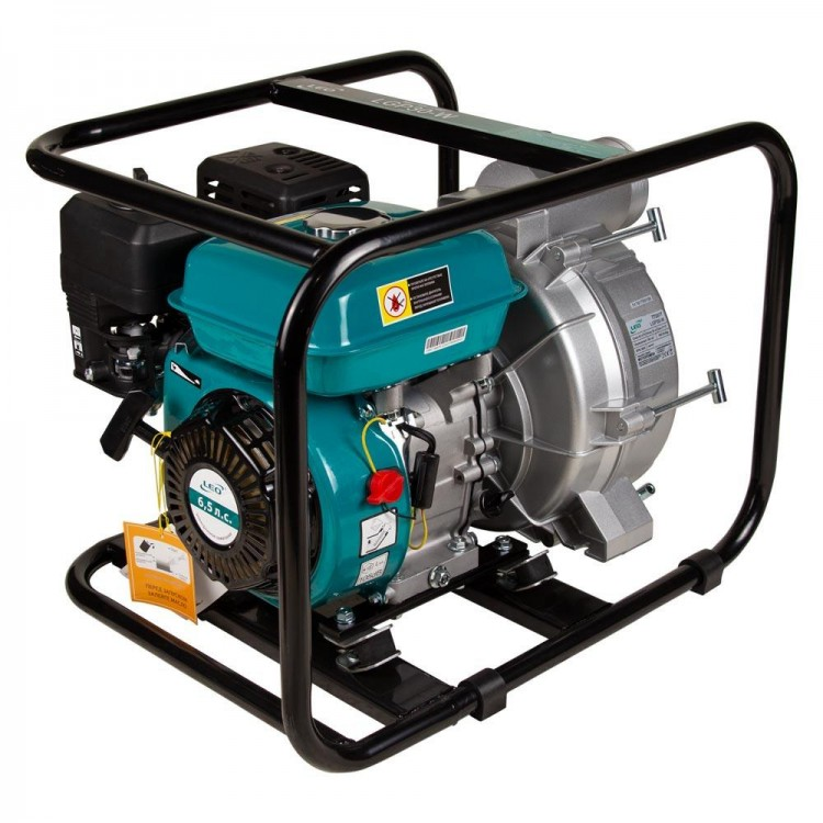 Мотопомпа для грязной воды — 6.5л.с. Hmax 29м Qmax 60м³/ч (4-х тактный) для грязной воды LEO (772517)