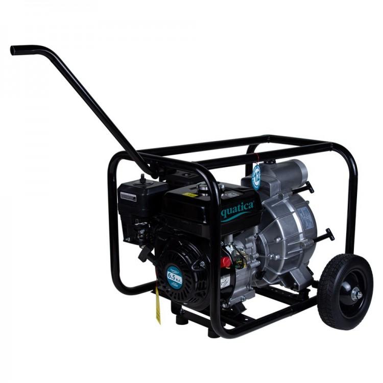 Мотопомпа для грязной воды — 6.5л.с. Hmax 28м Qmax 50м³/ч (4-х тактный) AQUATICA (772537)