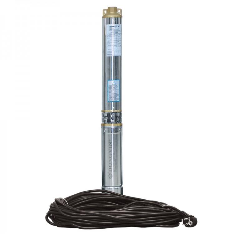 Насос центробежный скважинный 1.5кВт H 108(80)м Q 90(60)л/мин Ø80мм (кабель 50м) AQUATICA (DONGYIN) (777395)
