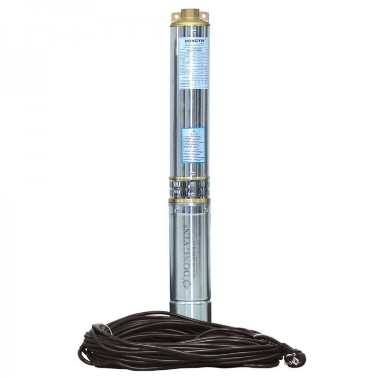 Насос центробежный скважинный 0.75кВт H 73(55)м Q 100(60)л/мин Ø102мм (кабель 40м) AQUATICA (DONGYIN) (777473)