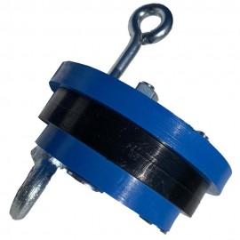 Оголовок для скважины (внутренний) 125мм (Ø25мм) синий