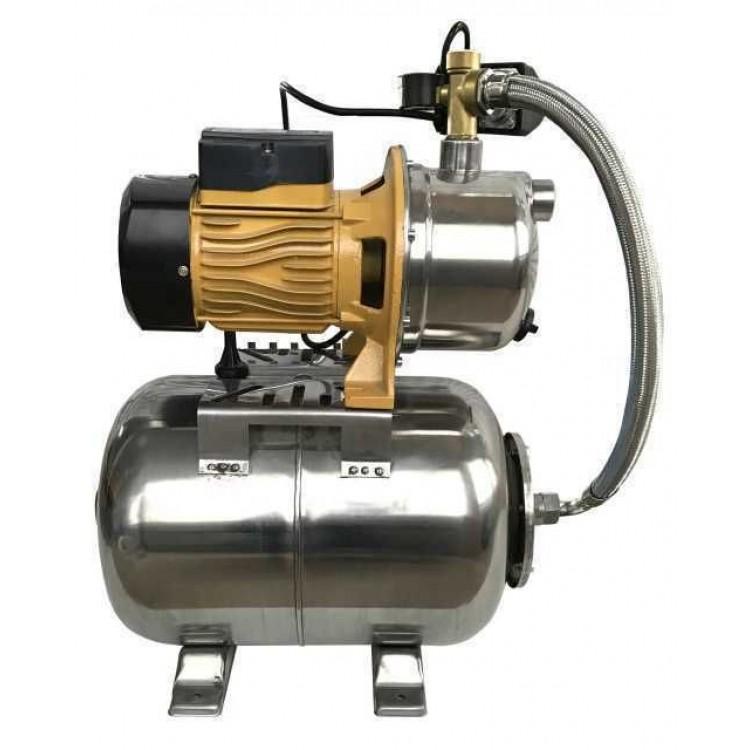 Насосная станция Optima JET100S-24 inox c латунным рабочим колесом(гидроаккумулятор нержавеющий +насос нержавеющий) 1,1кВт