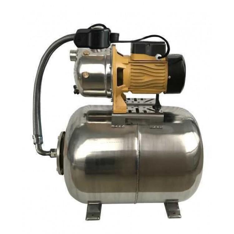 Насосная станция Optima JET100S-50 inox с латунным рабочим колесом (гидроаккумулятор нержавеющий + насос нержавеющий) 1,1кВт