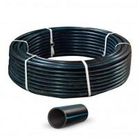 Труба полиэтиленовая, черная с синей полосой (10 атмосфер) Ø25 (2 мм)