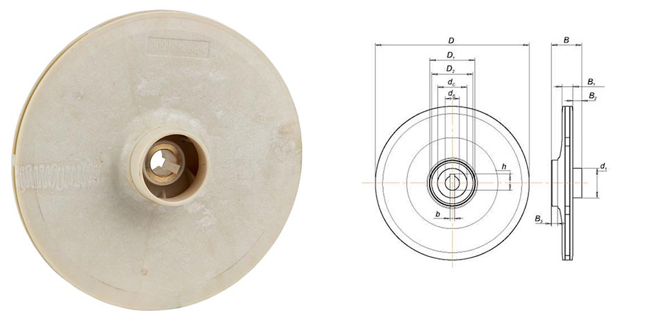Колесо рабочее для центробежных насосов 775033, 775323 AQUATICA